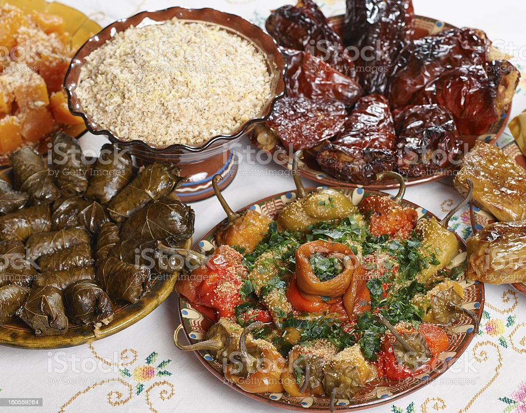 Bulgarian Christmas food royalty-free stock photo