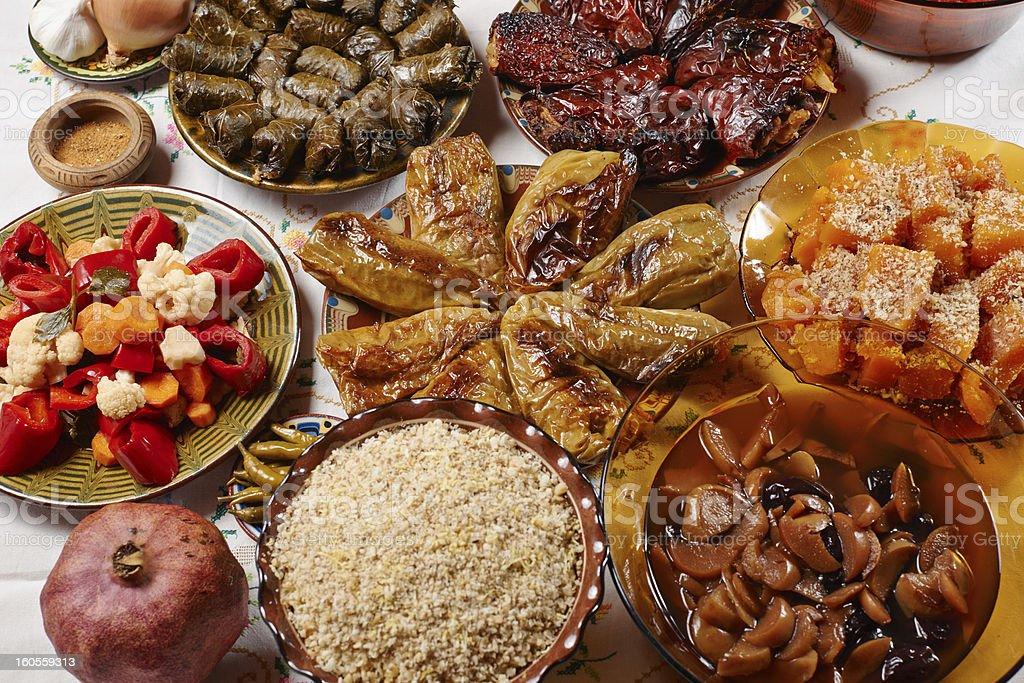 Bulgarian Christmas food stock photo