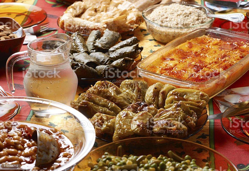 Bulgarian Christmas table setup royalty-free stock photo