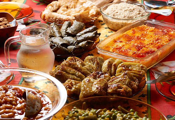Bulgarian Christmas table setup  bulgaria stock pictures, royalty-free photos & images