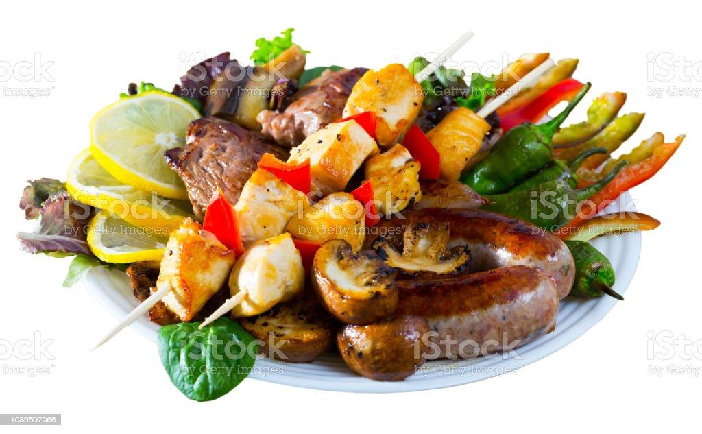 Bulgarian dish Meshana skara stock photo