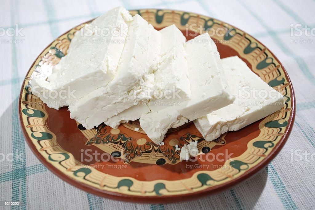 Bulgarian feta cheese royalty-free stock photo