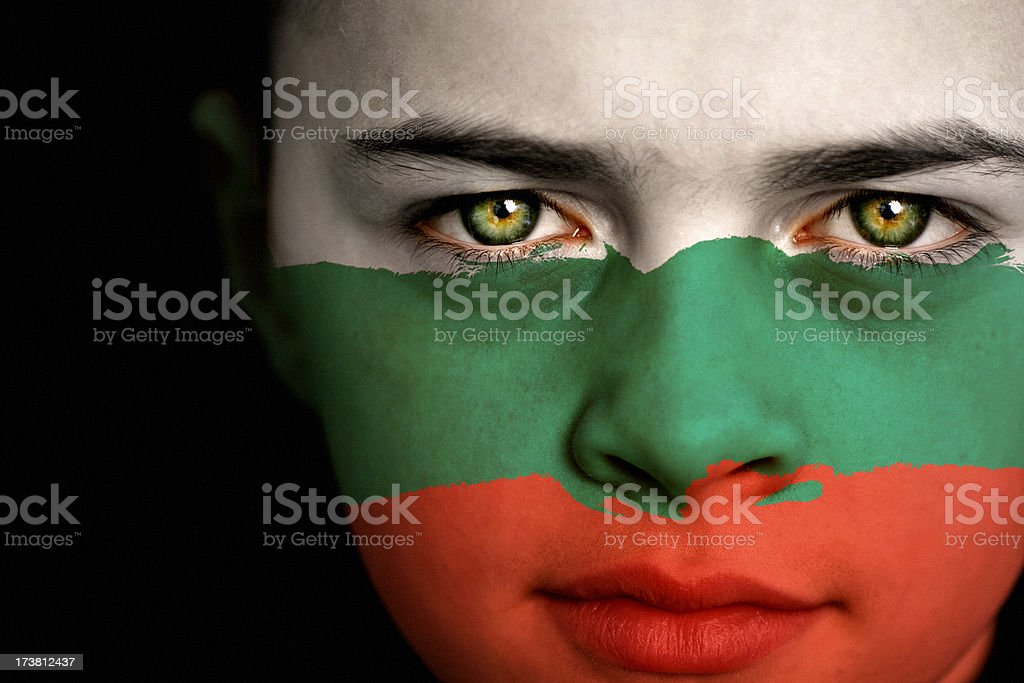 Bulgarian flag boy royalty-free stock photo