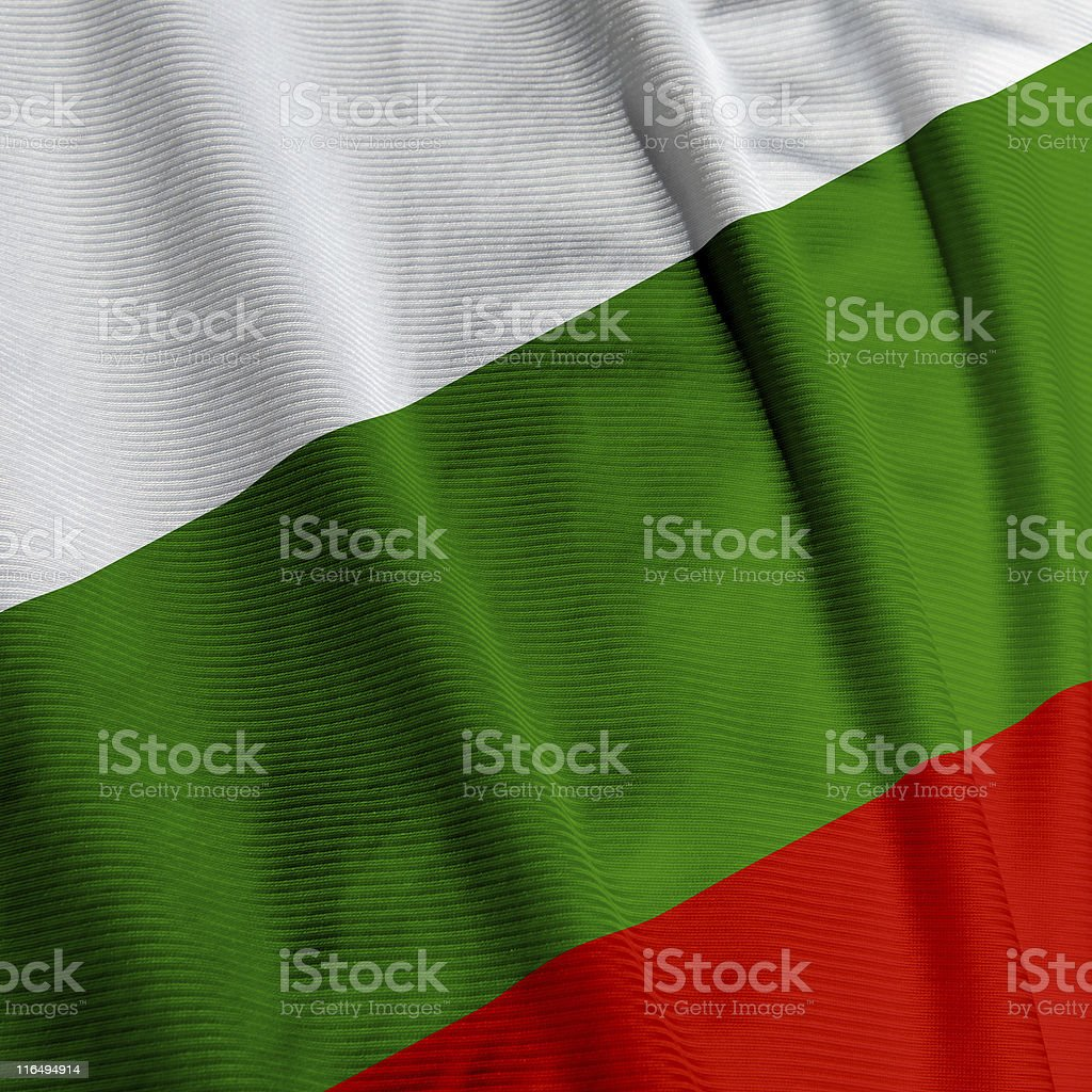 Bulgarian Flag Closeup royalty-free stock photo