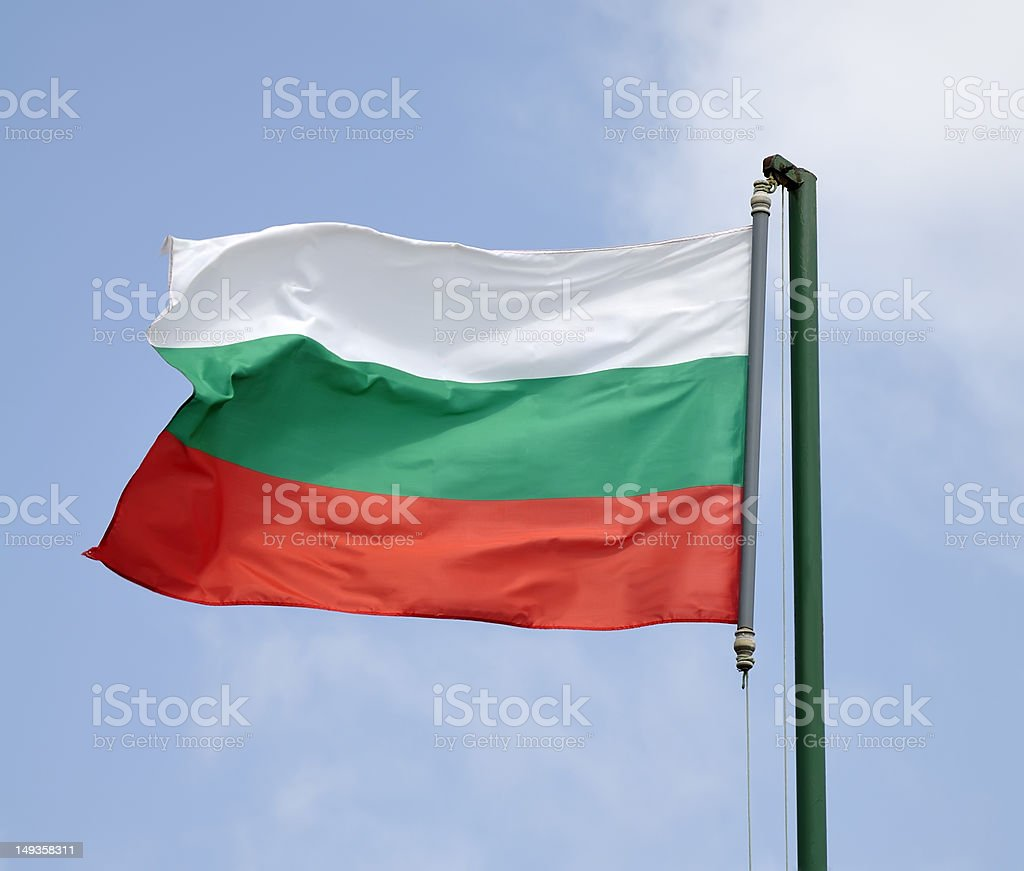 Bulgarian Flag (clipping path) stock photo