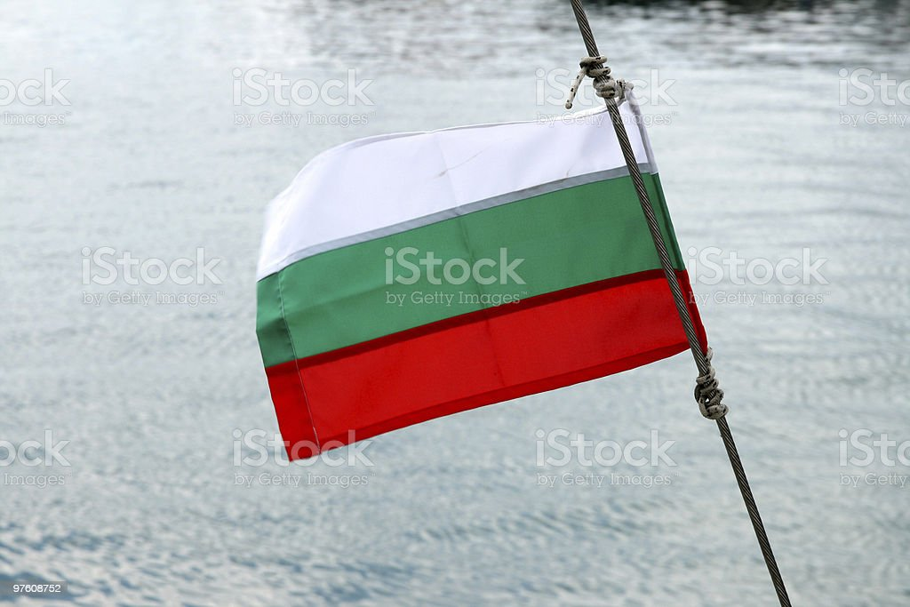 Bulgarian flag royalty-free stock photo