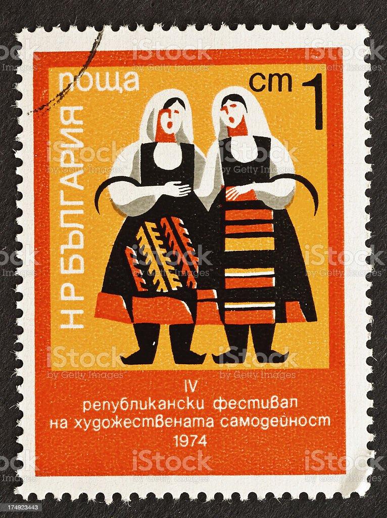Bulgarian Folk Dress royalty-free stock photo