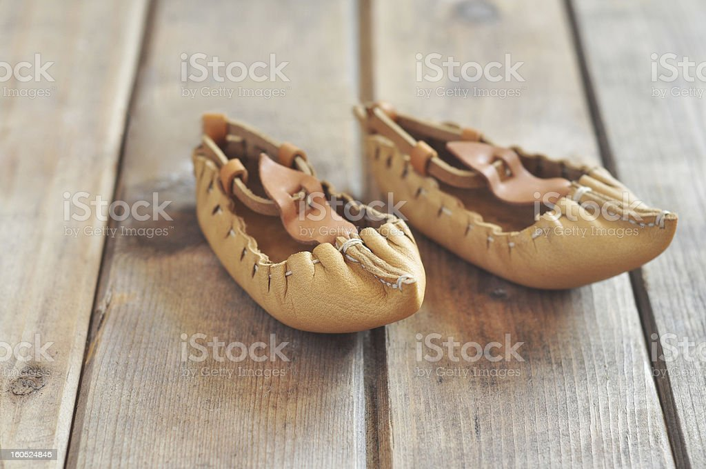 Bulgarian lather shoes stock photo