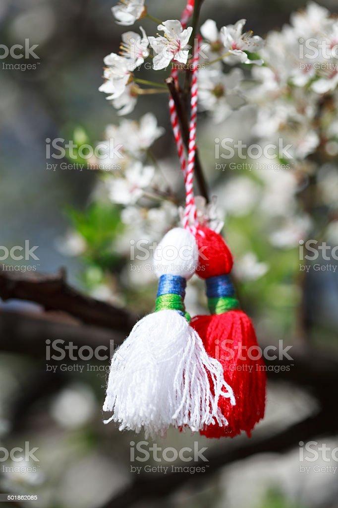 Bulgarian Martenitsa stock photo