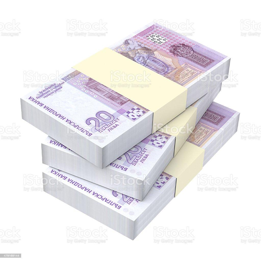 Bulgarian money isolated on white background stock photo