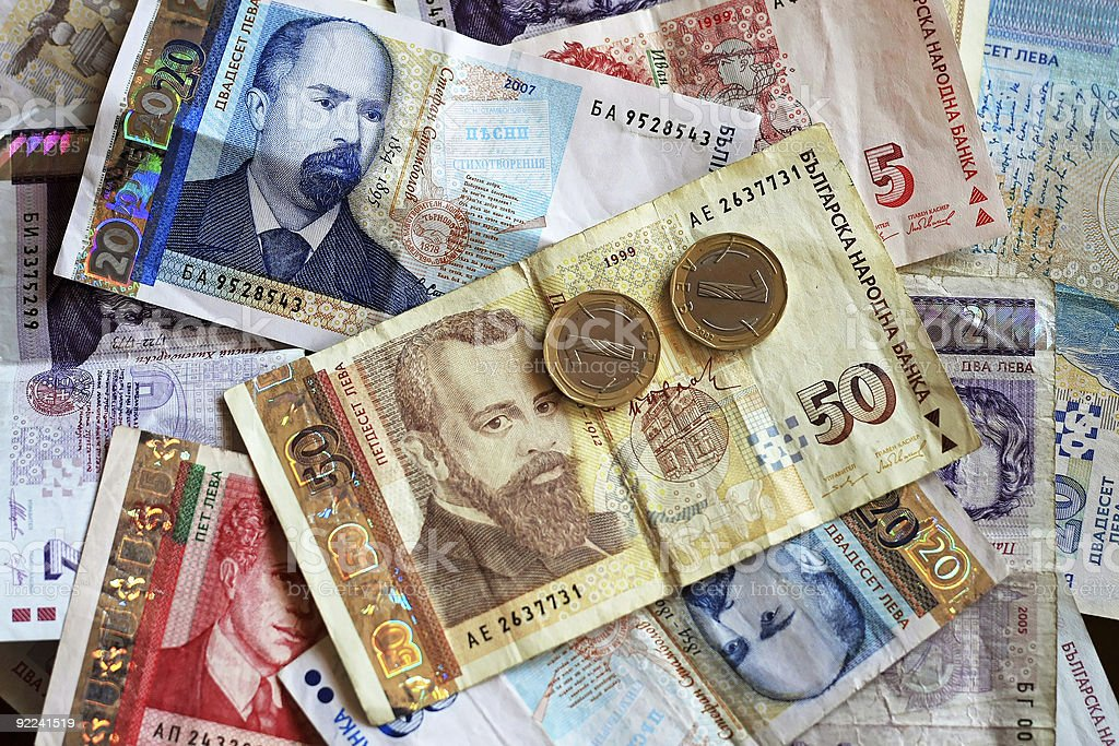 Bulgarian money stock photo