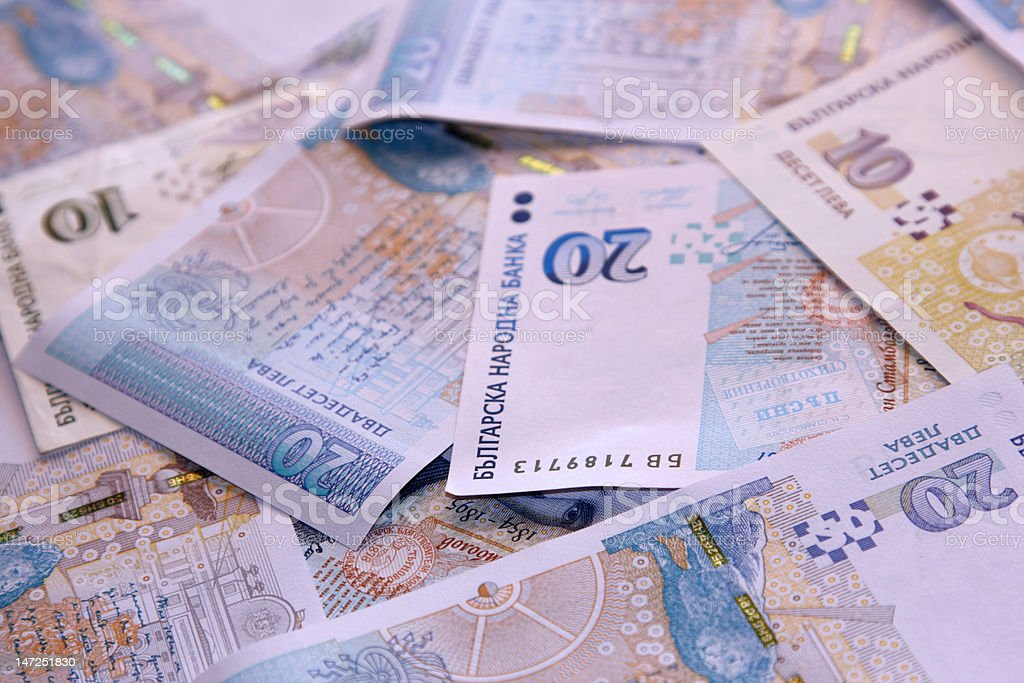 Bulgarian national currency stock photo