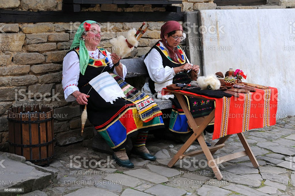 Bulgarian Needlewomen stock photo