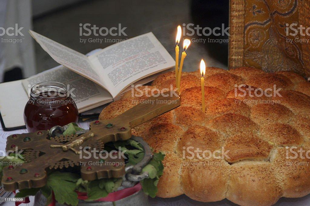 Bulgarian Orthodox ceremony royalty-free stock photo