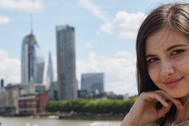 bulgarian outdoor girl teenager in london - whiteway english outdoor girl stock photos and pictures