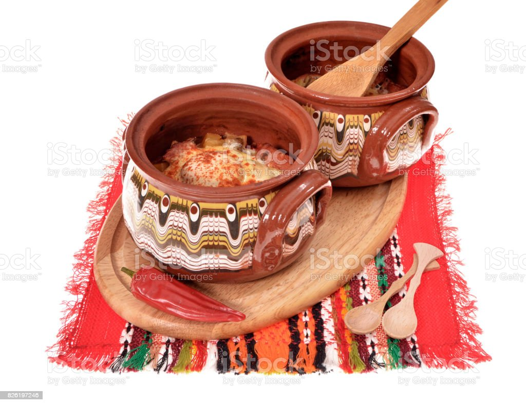 bulgarian Painted clay pot stock photo