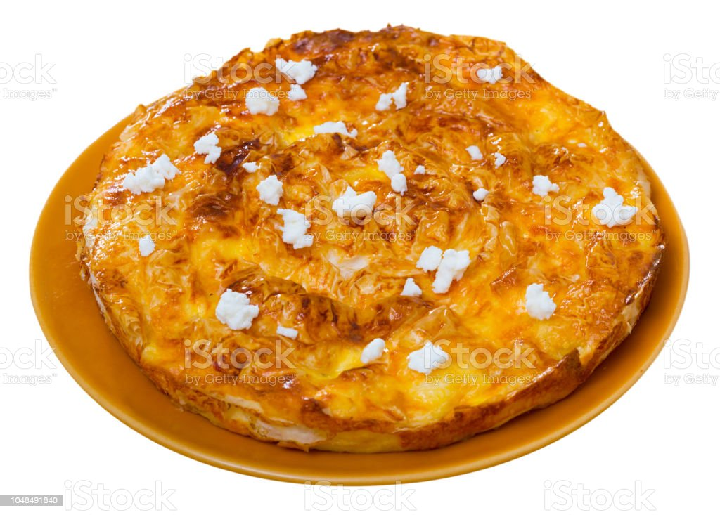 Bulgarian pie Banitsa stock photo