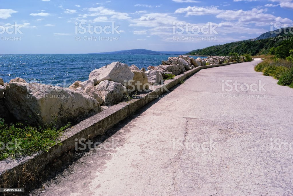 Bulgarian Seacoast in the Area of Albena and Balchik stock photo