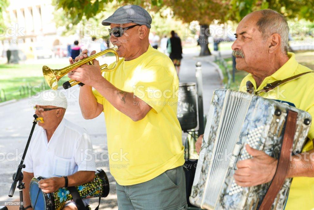 Bulgarian Street Musicians stock photo