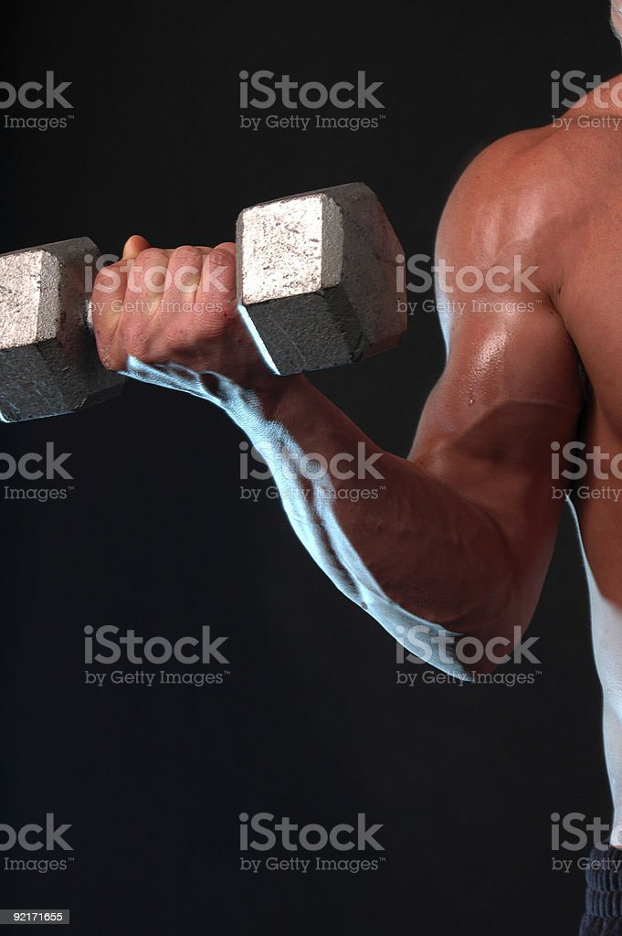 bulging biceps male muscle royalty-free stock photo