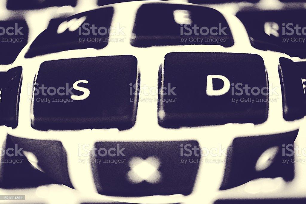 Bulging Keyboard stock photo