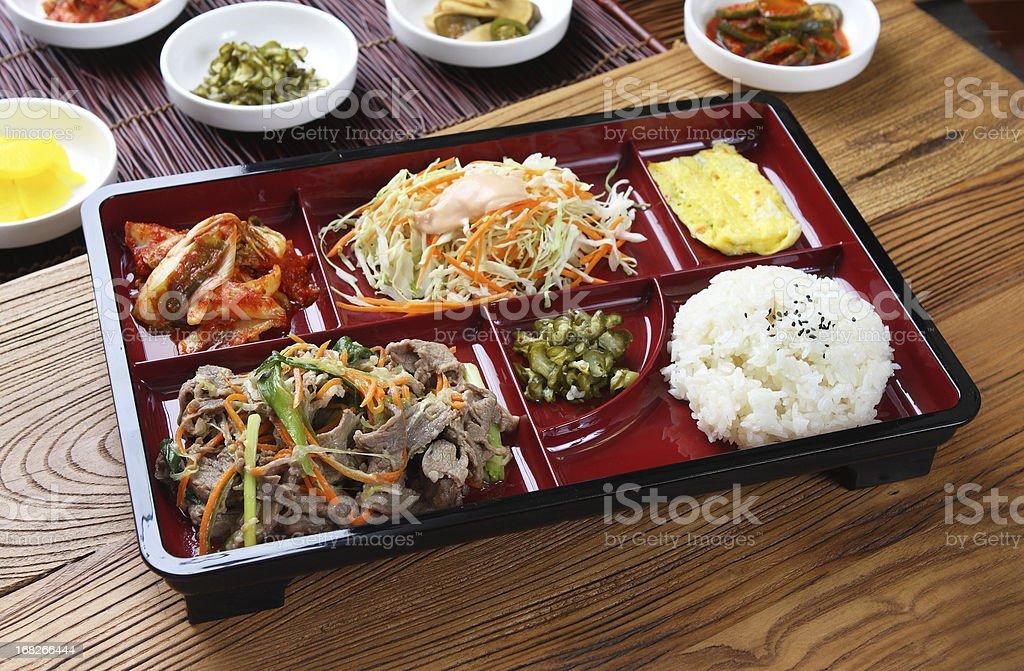 Bulgogi Bento Lunch Box stock photo