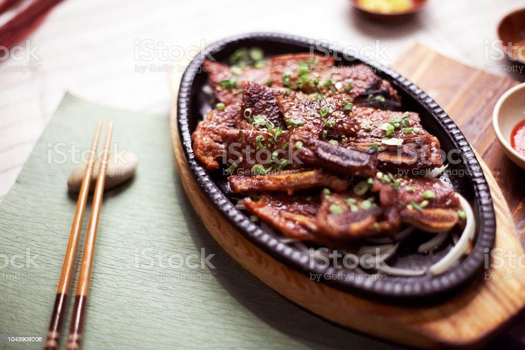 Bulgogi Kalbi Korean Grill BBQ stock photo