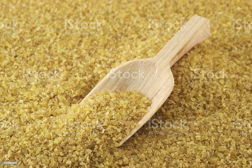 Bulgur (cracked wheat) royalty-free stock photo