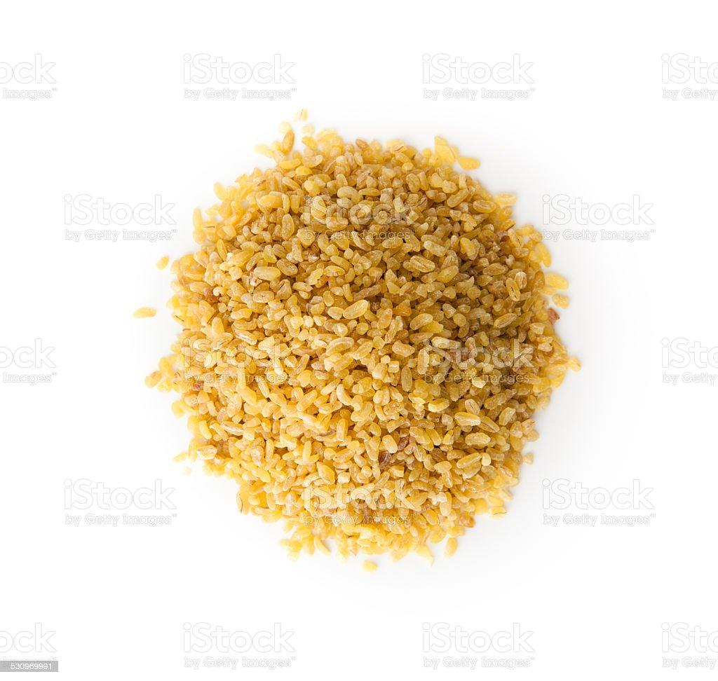 Bulgur Wheat  with copy space stock photo