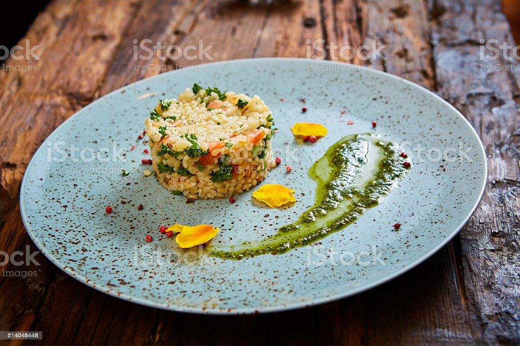 Boulgour avec des légumes, santé, alimentation plat savoureux - Photo
