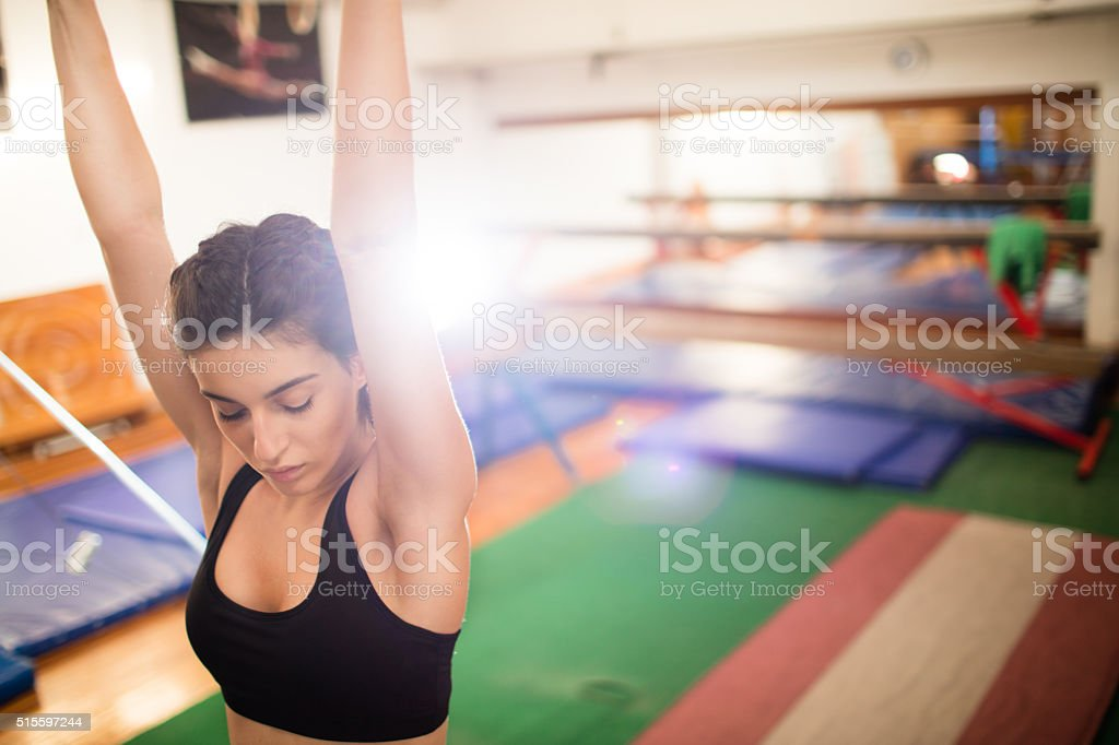 Buliding my strength stock photo