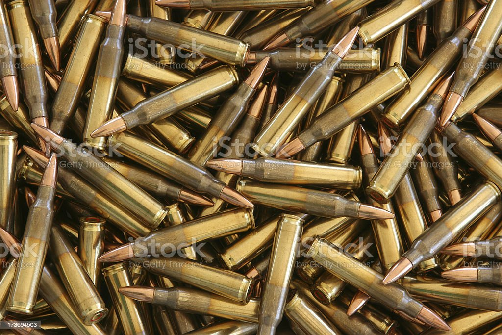 Bulk 5.56 x 45mm NATO Ammo stock photo