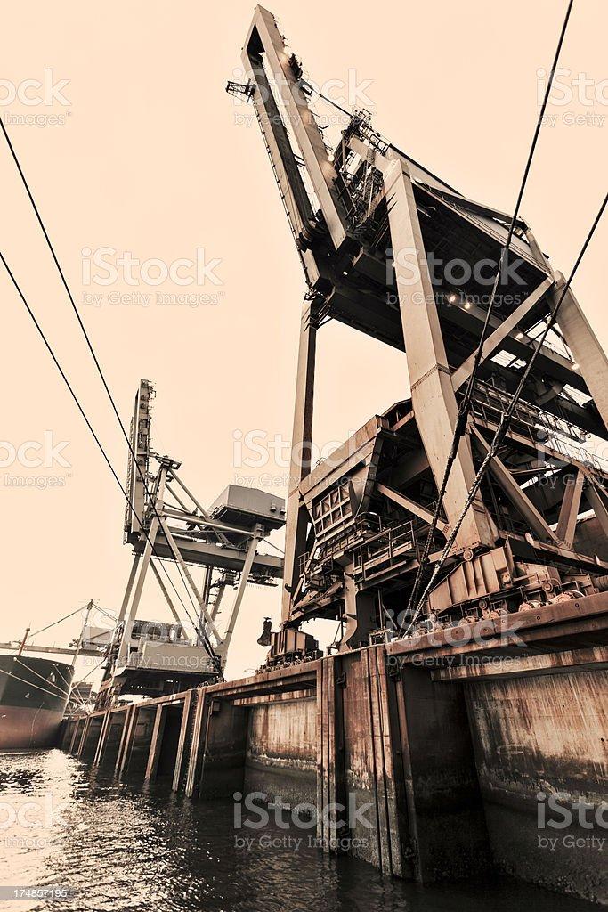 Bulk cargo gantry crane royalty-free stock photo