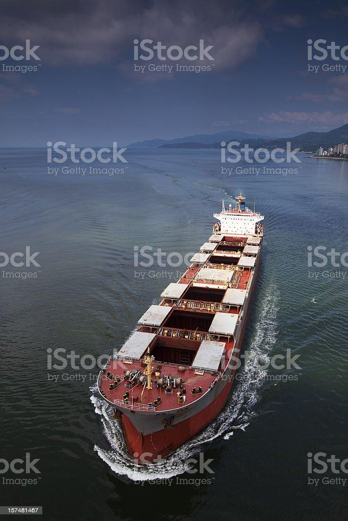 Bulk Cargo Ship stock photo