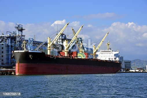 Bulk carrier to transport resources, shizuoka, japan