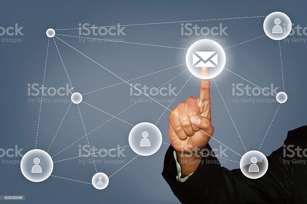 Bulk E-mail marketing stock photo