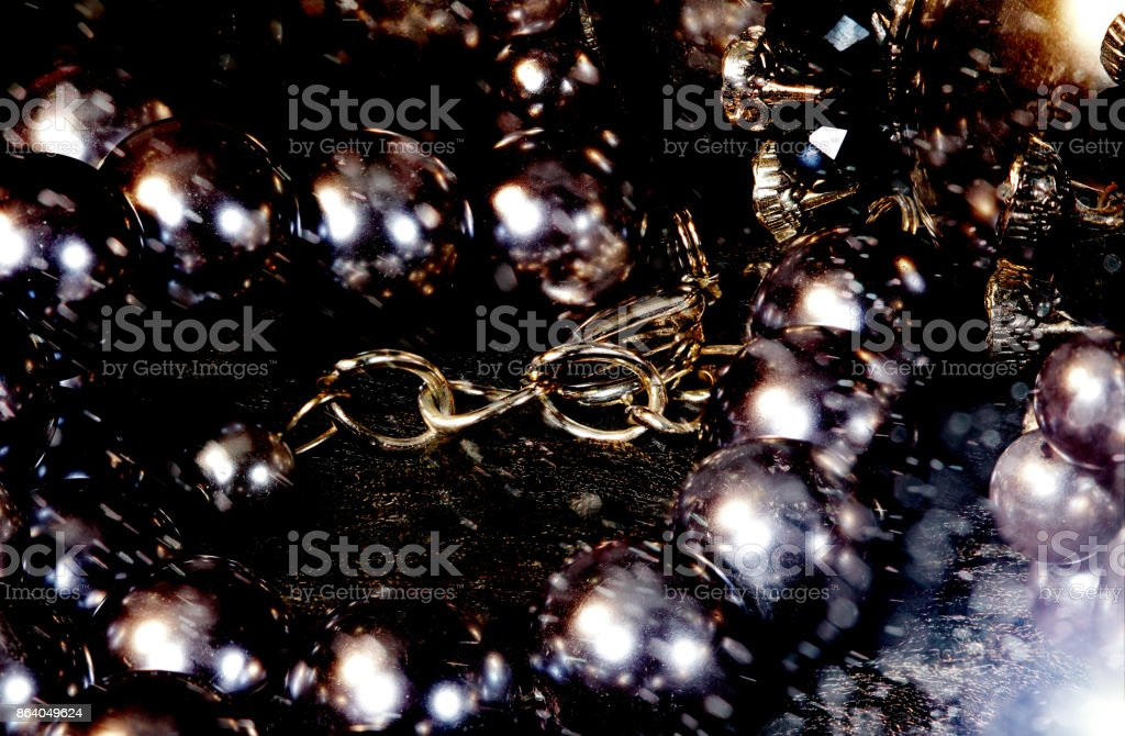 Bulk Mix Accessories close up to see texture detail of necklace stock photo