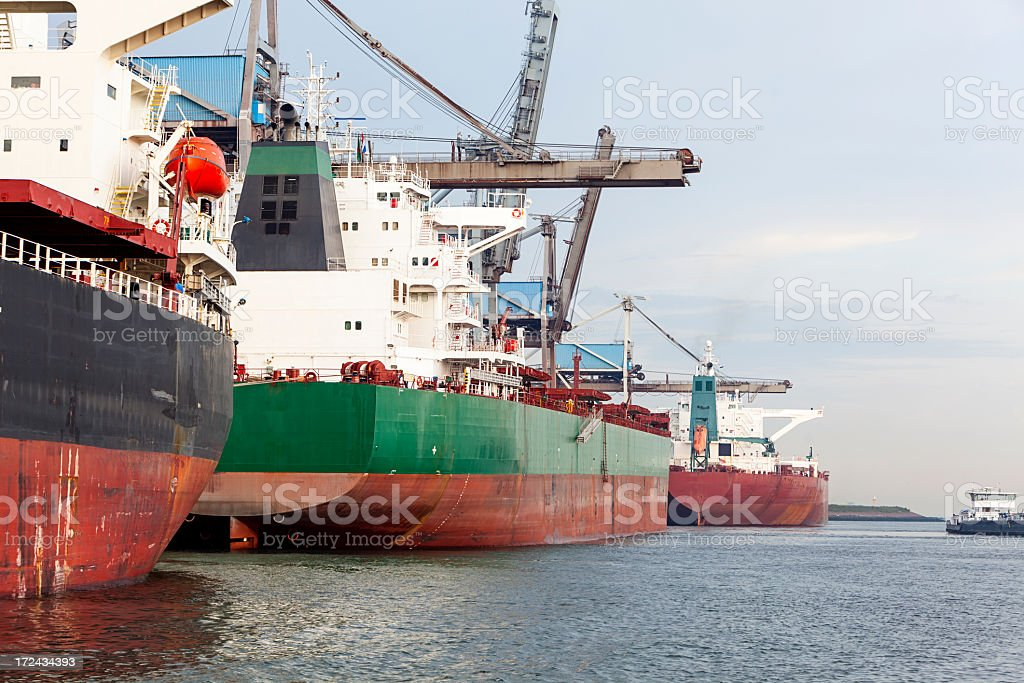 Bulk ships royalty-free stock photo