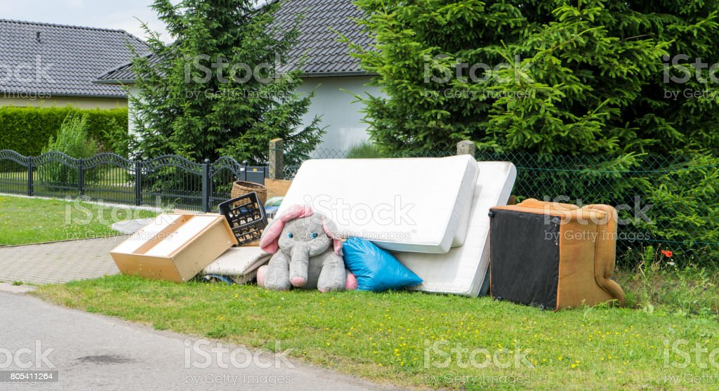bulky waste stock photo