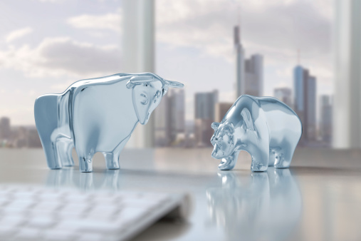 Bull and bear in Frankfurt