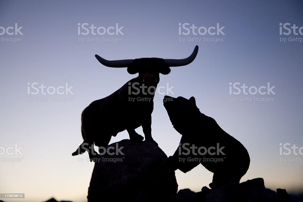 Bull and bear market royalty-free stock photo