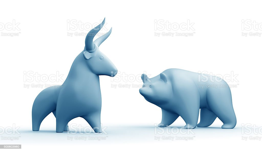 Bull And Bear Market stock photo