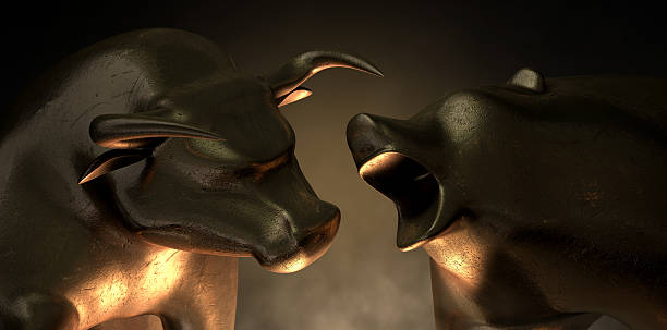 Bull And Bear Market Statues​​​ foto