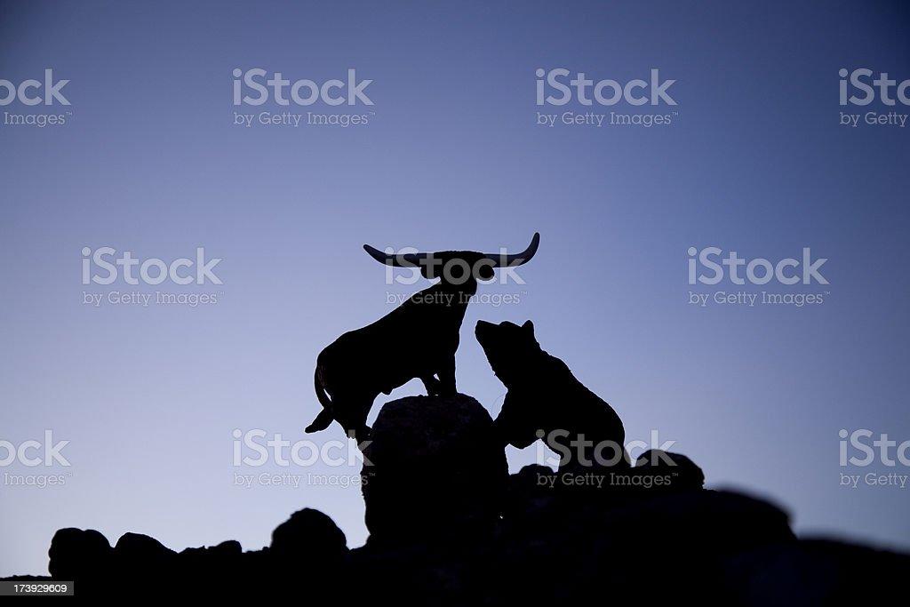 bull and bear royalty-free stock photo