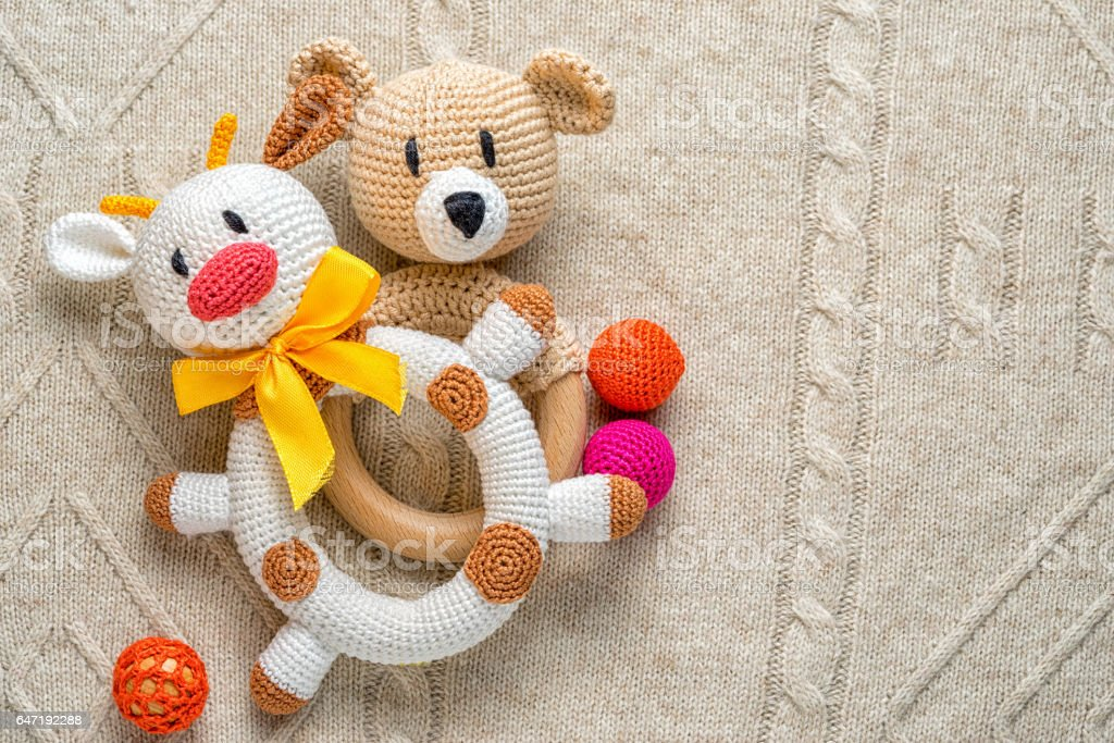 Bull and bear toys for toddlers stock photo
