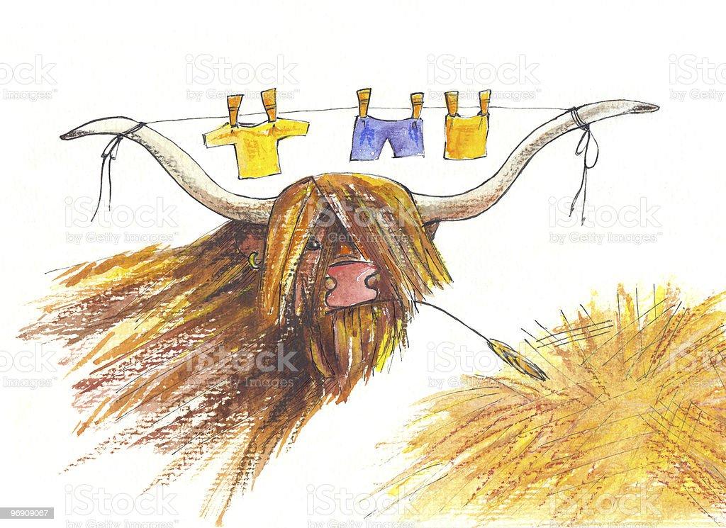 Bull. Drawing royalty-free stock photo
