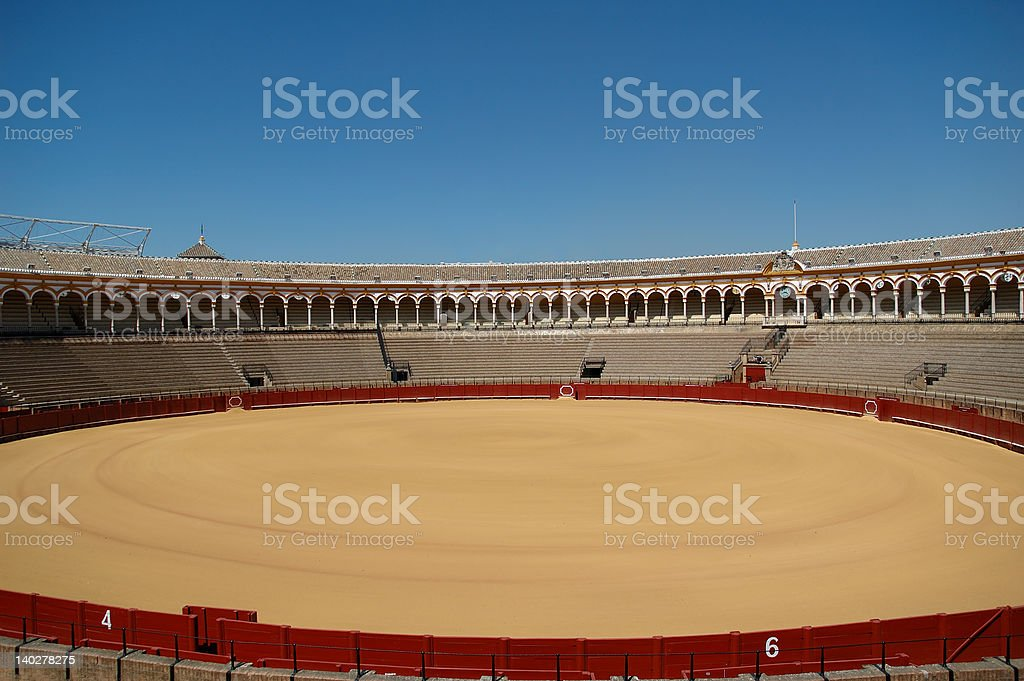 bull fight arena in Andalusia royalty-free stock photo