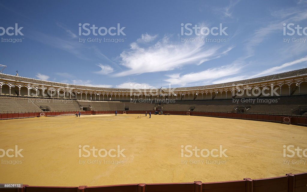 bull fighting arena in seville royalty-free stock photo