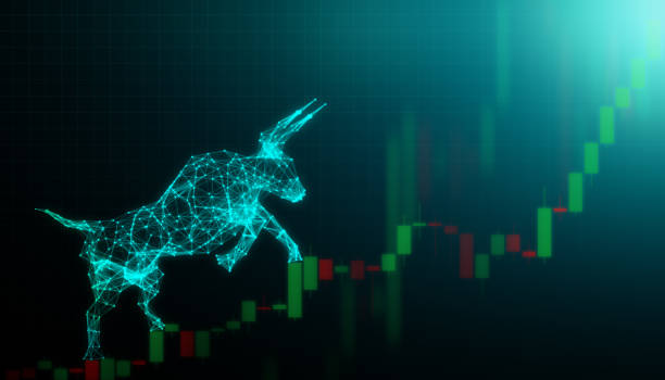 Bull market, Financial and business concept Bull market, Financial and business concept bull market stock pictures, royalty-free photos & images