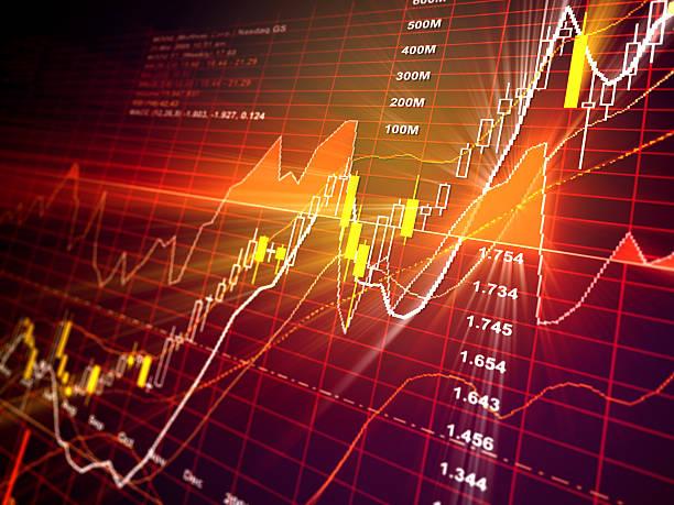 Bull Market - Financial Data stock photo
